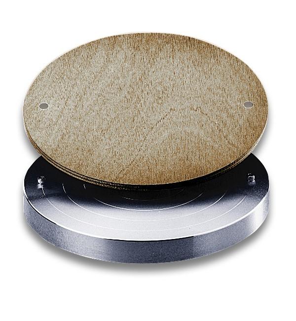 Scheibendeckel mit Holzplatte 300 mm