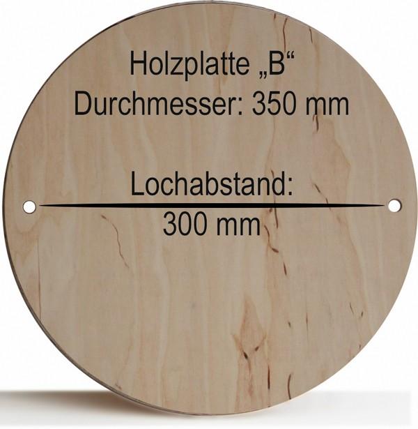 "Holzplatte ""B"" 350 mm, Lochabstand 300 mm"