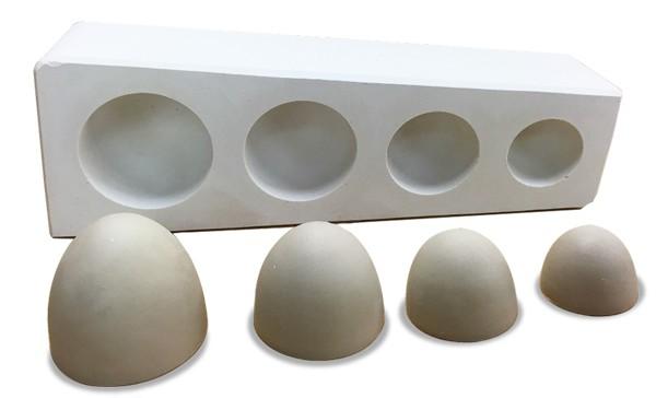 Gipsform Kumme 4er Form